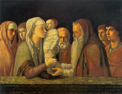 Giovanni Bellini, Presentazione di Gesù al Tempio (1465-1470). Venezia, Fondazione Querini Stampalia.