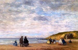Eugène Boudin, Passeggiata sulla spiaggia, 1863
