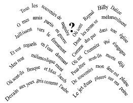 G. Apollinaire, Getto d'acqua (calligramma),