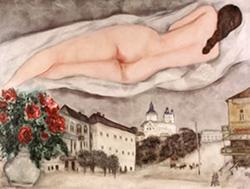 M. Chagall, Nudo sopra Vitebsk, 1933