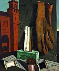 Les projets de la jeune fille, di G. De Chirico (1915)