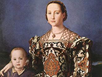 A. Bronzino, Ritratto di Eleonora di Toledo con suo figlio Giovanni.