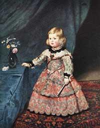Velazquez, Infanta Margarita con l'abito rosa.