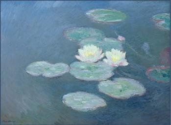 Ninfee, effetto della sera. C. Monet (1897)
