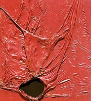Alberto Burri, Rosso plastica (1954)