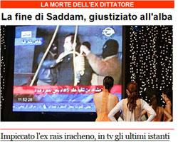 Corriere della sera, 30 dicembre 2006
