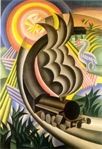 F. Depero, Treno partorito dal sole, 1924